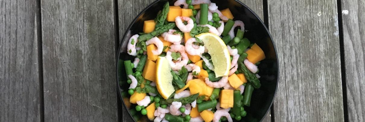 Salat Med Rejer Mango Og Asparges Kostkalenderdk